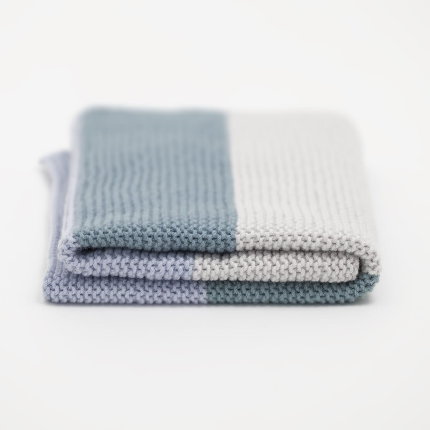 Simple Baby Blanket in Smooth Merino by The Woven Co