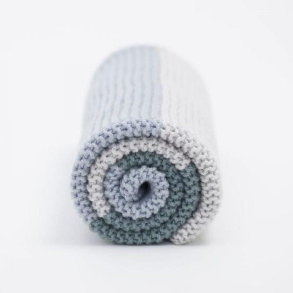 Simple Baby Blanket in Smooth Merino Wool Yarn