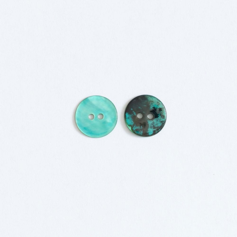 Hand Dyed Shell buttons by the Woven in Mint