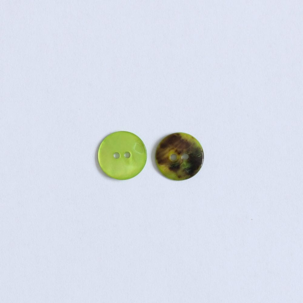 Hand Dyed Shell buttons by the Woven in Lime