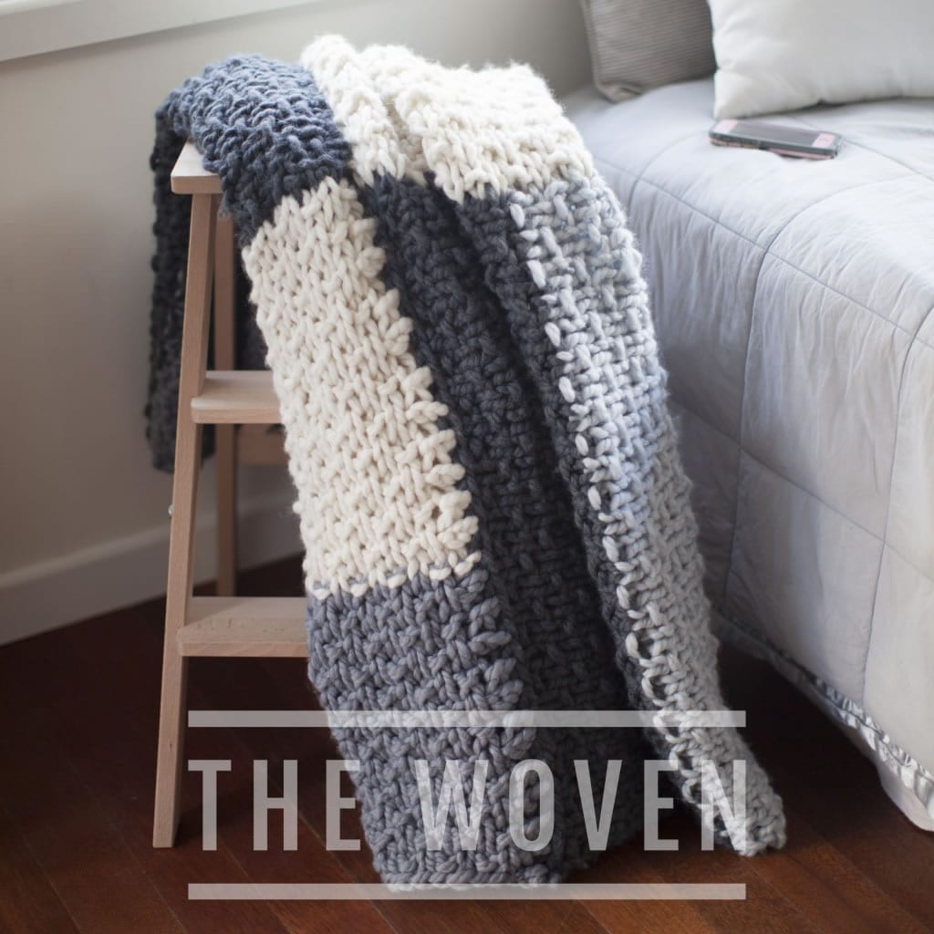 The Woven Chunky Knit Mega Cabin Blanket
