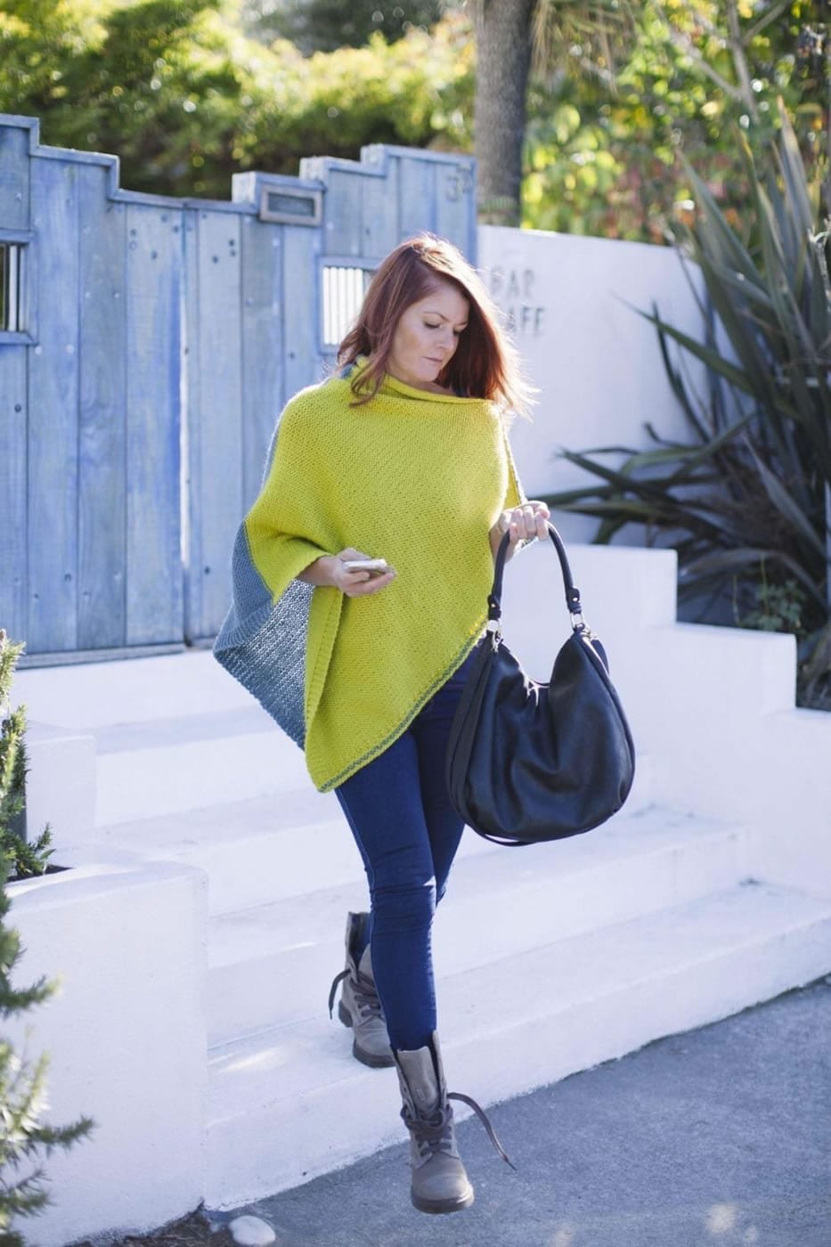 Jeanette Poncho Knit Kit in Sumptuous