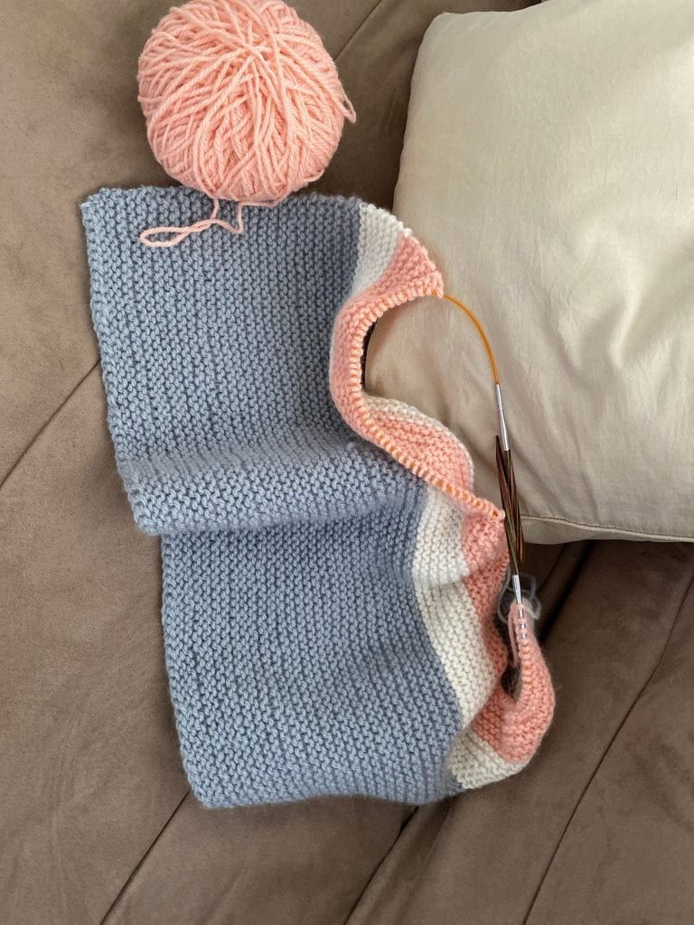 The Woven Co Couch Cuddler Beginner Knit Kit
