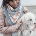 Dawn Skies Shawl in Sumptuous