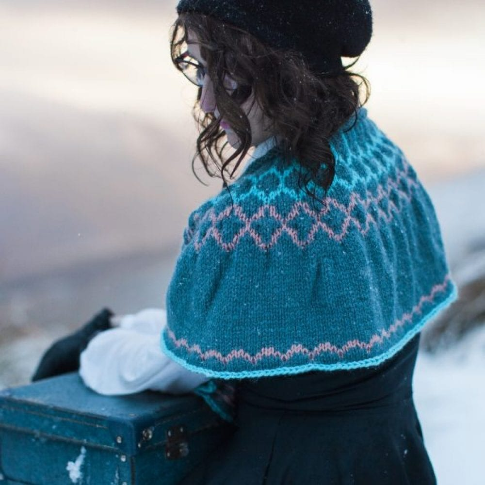 Catherine Cape knit in Sumptuous by The Woven