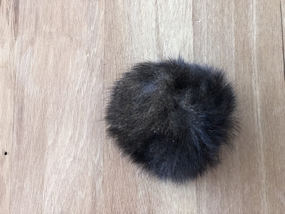 Natural Black Amber Possum Fur Pom Pom by The Woven Co