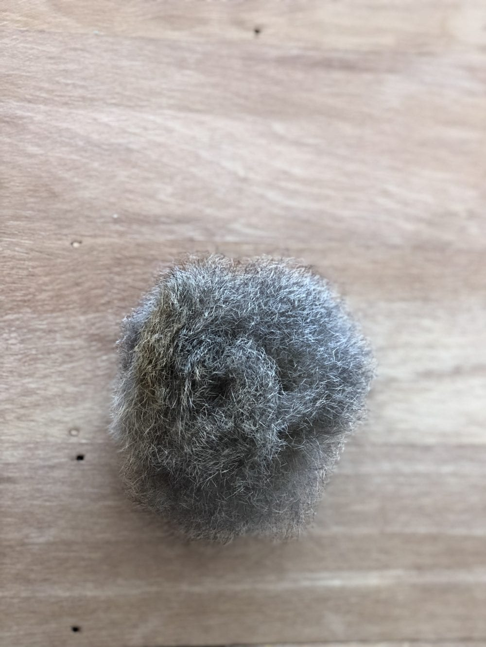 Natural Light Grey Amber Possum Fur Pom Pom by The Woven Co