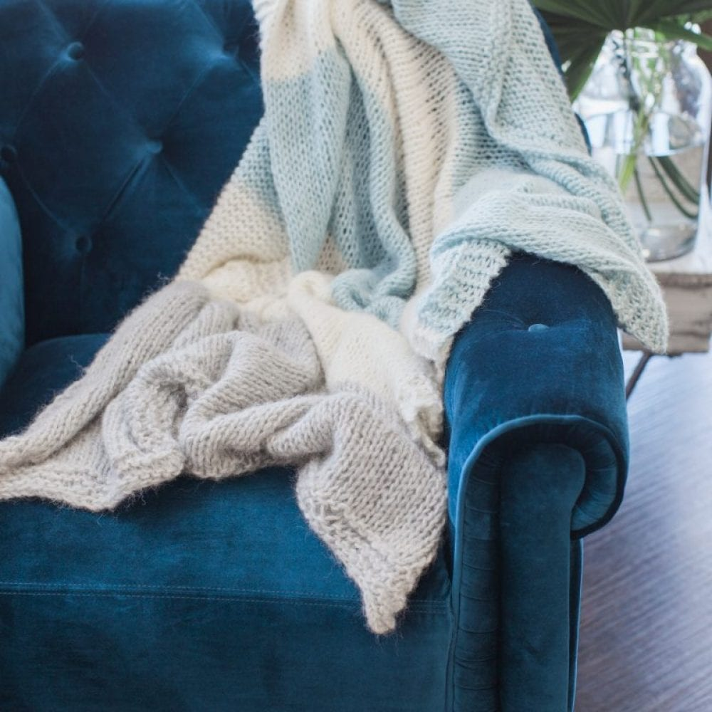 Ailsa Lux Alpaca Knit Throw