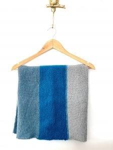 Tri Colour Easy Baby Blanket