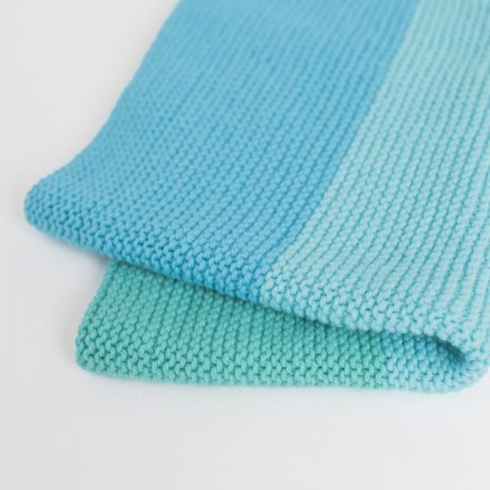 Tri-Colour Easy Baby Blanket Knit Kit - THE WOVEN
