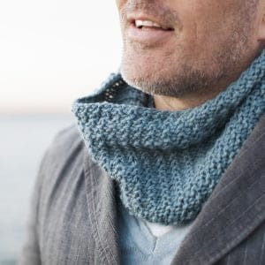 Jason Knitted Neck Warmer in Sumptuous by The Woven Co