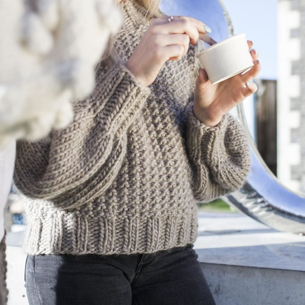 Soft and Chunky Knit Cardigan Chunky Knit Jumper