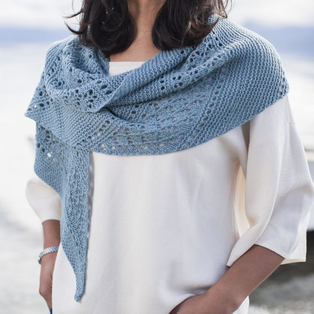 Pentala Lace Shawl in DuckEgg Smooth Merino