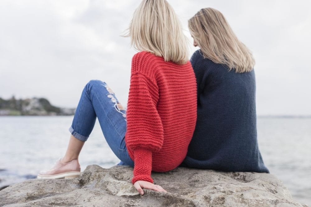 Eryn Chunky Look Knit Jumper in Sumptuous by The Woven Co