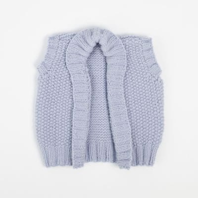 Baby slouchy vest by The Woven Co