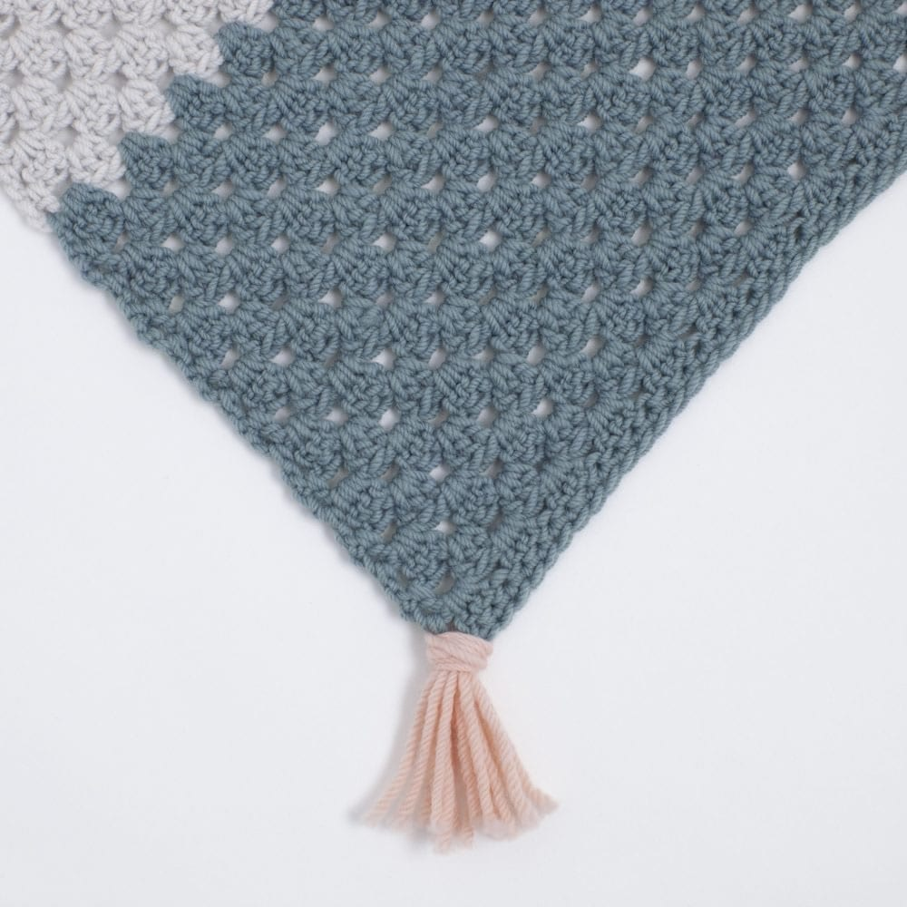 Simple Granny Crochet Blanket by The Woven Co