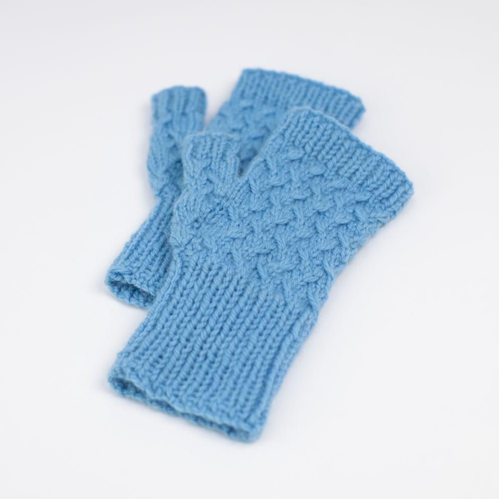 Oat Harvest Mitts (knitted hand warmers) in Sumptuous