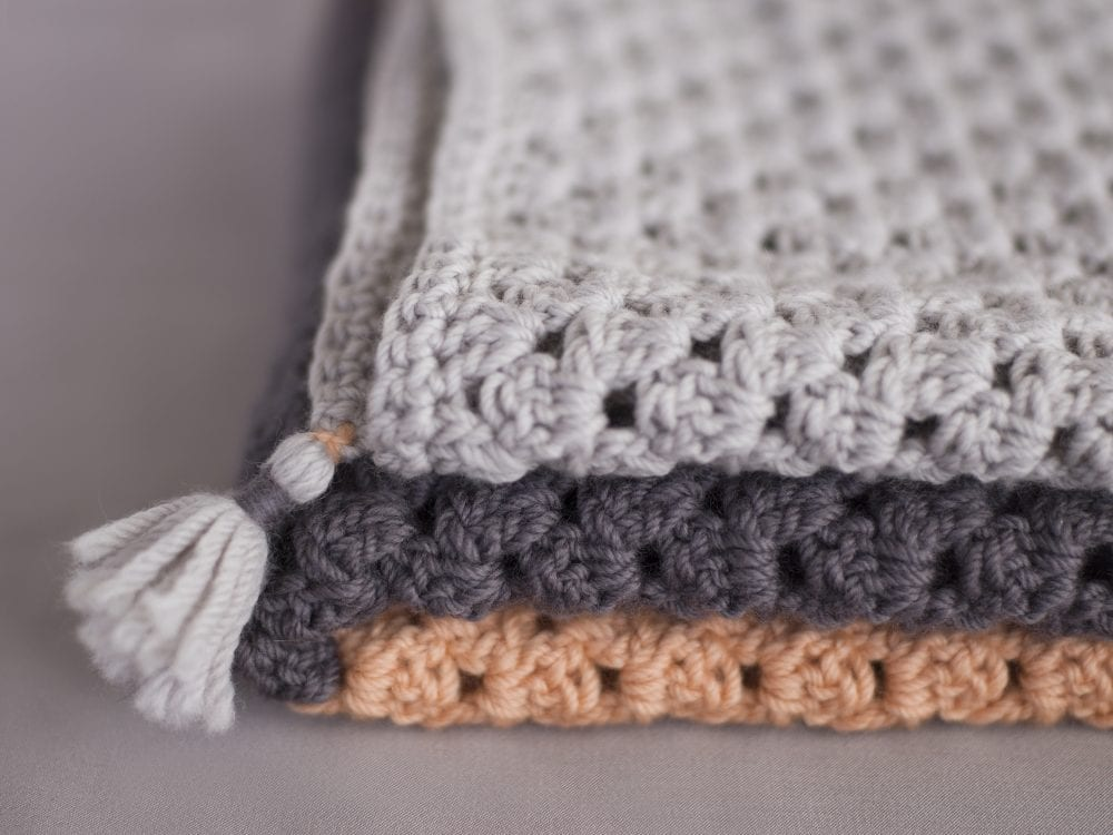 Simple Baby Crochet Blanket by The Woven Co