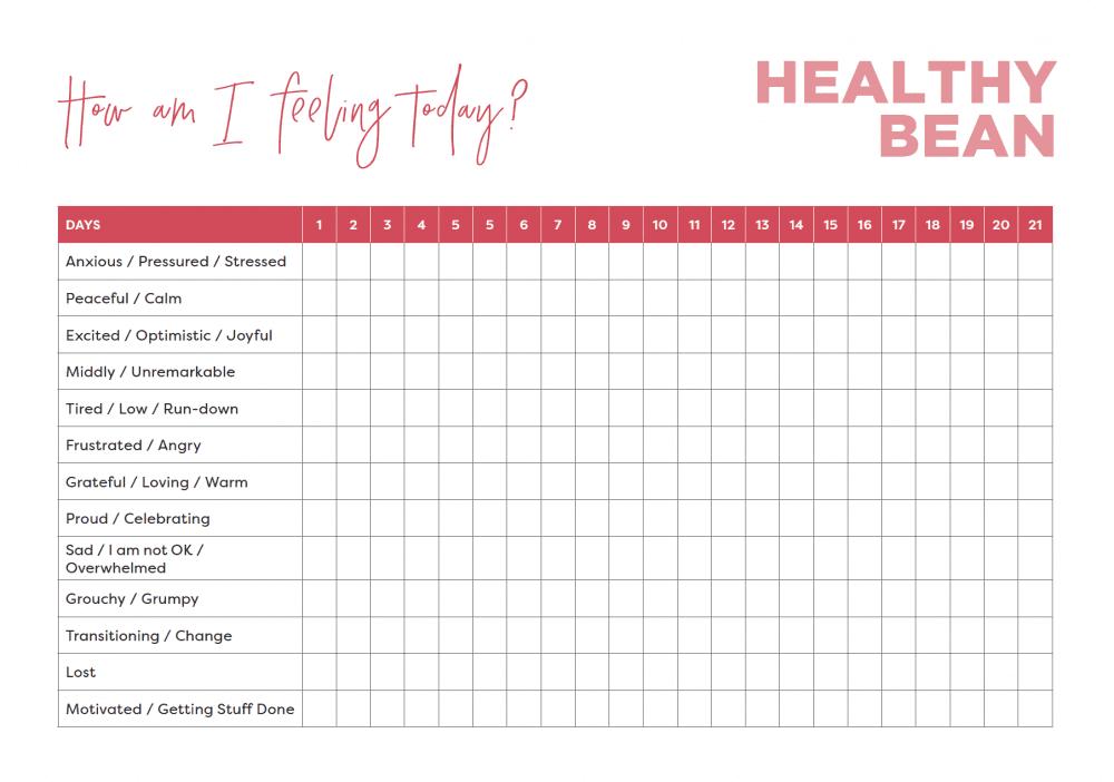 Healthy Bean Ritual Card