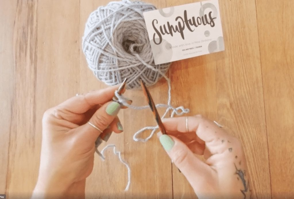 How to knit, how to slip the first stitch purlwise