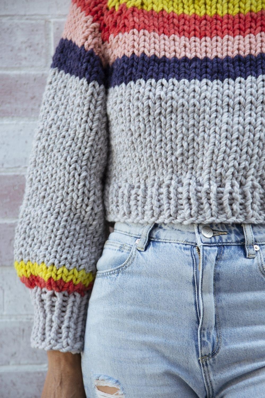 Peaches Chunky Knit Crop Jumper