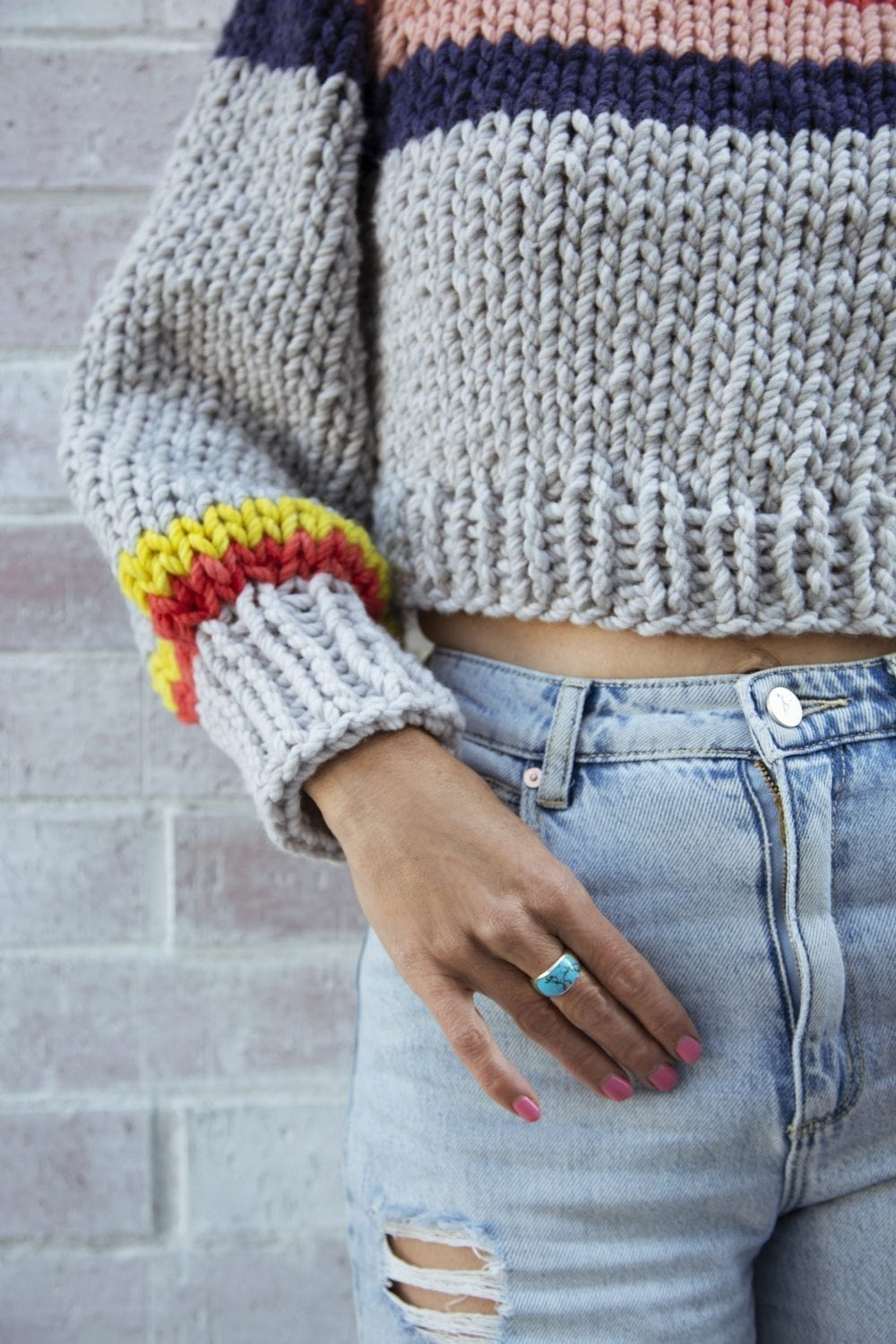 Peaches Chunky Knit Crop Jumper