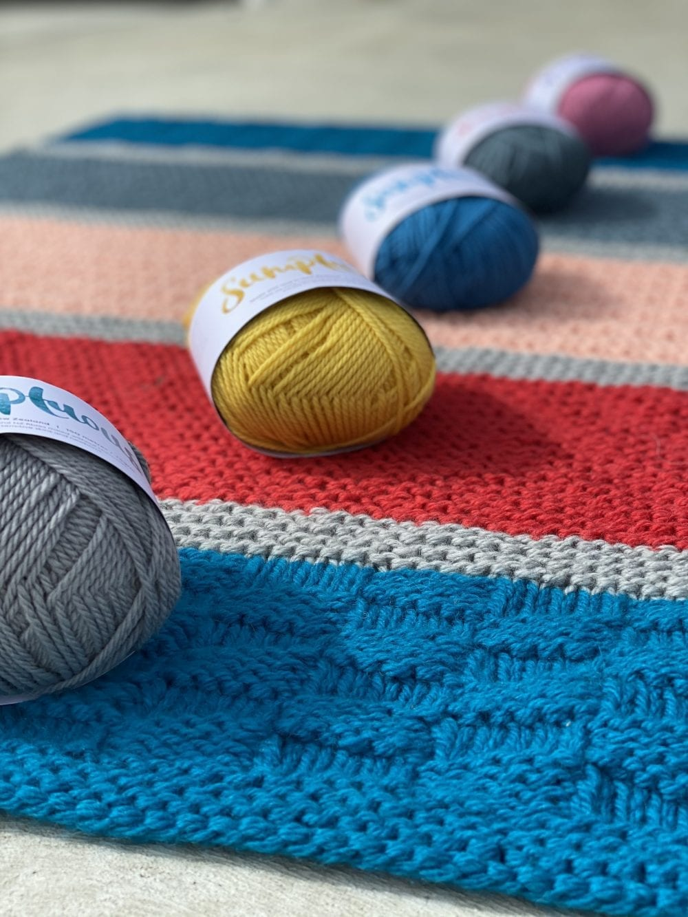 Geometric Delight Textured Blanket Knit Kit BIG Edition