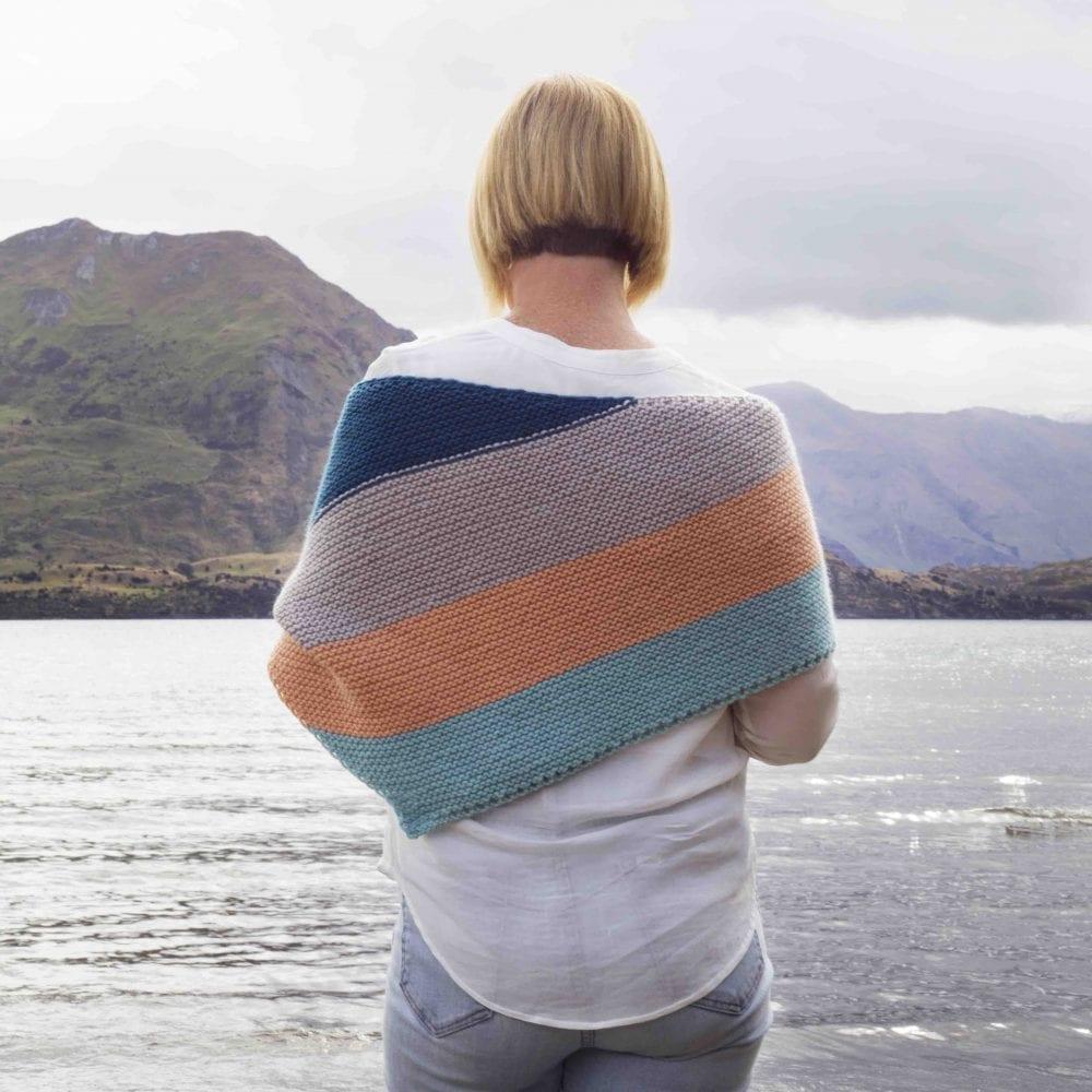royale garter knit scarf knit kit