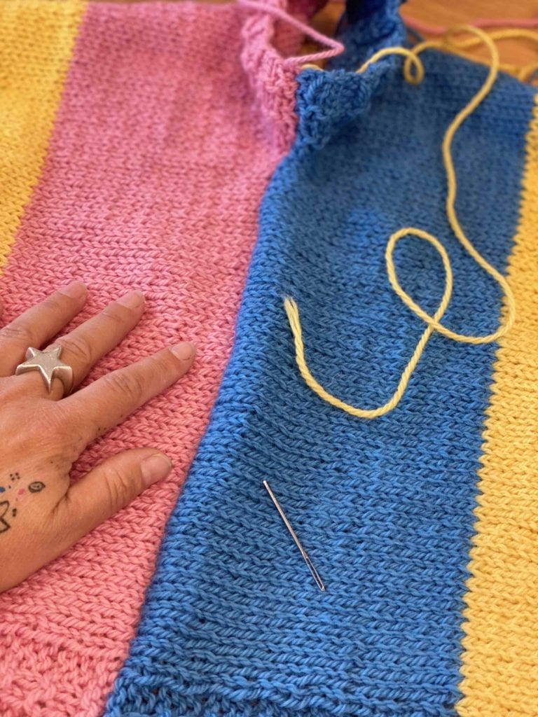 How to seam (sew up) your knitting